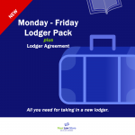 Monday to Friday Lodger Pack plus agreement
